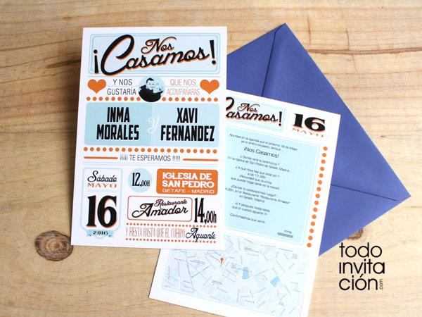 8 invitaciones de boda Vintage 8 grandes diseos invitaciones y