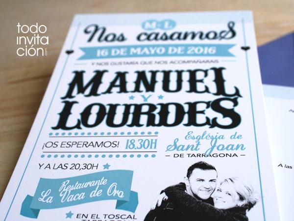 circus letters with invitacion de boda original