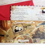INVITACION ORIGINAL DE BODA VIAJES
