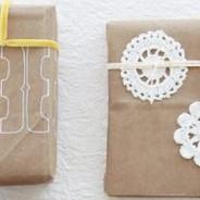 Como envolver tus regalos con papel kraft de un forma original y creativa