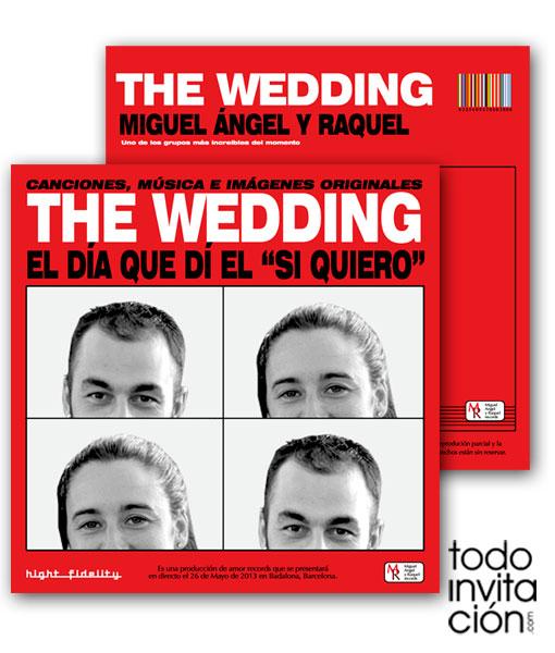 Invitaciones de boda llenas de musica. 7 originales ideas
