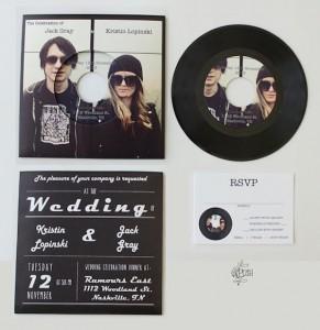 Invitación de boda de música