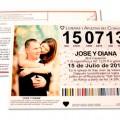 invitacion de boda loteria original
