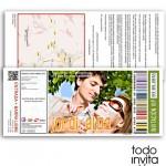 invitacion original boda entrada de concierto