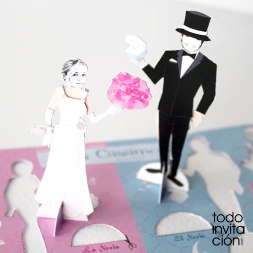 11 Invitaciones de boda divertidas para juguetones
