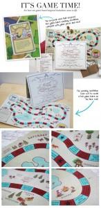 Invitación de boda con juego