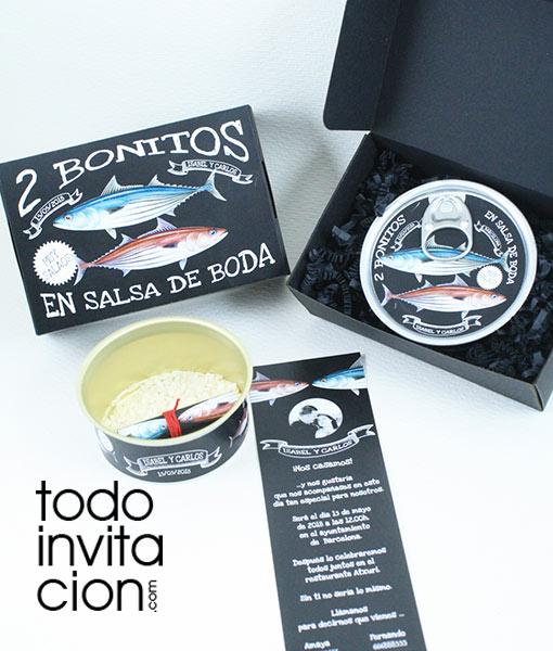 invitacion boda original lata