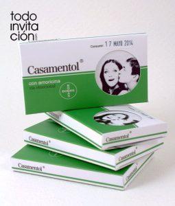 invitacion original caja medicamento