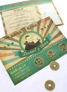 invitacion de boda original rasca y gana