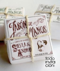 jabon original para bodas vintage