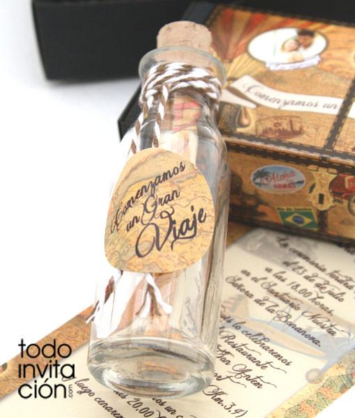 Invitacion Unica De Boda Mensaje En Una Botella Invitaciones Y - Invitaciones-de-boda-en-botella