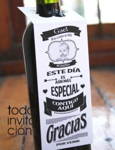 Etiquetas para vino personalizadas boda, comunion bautizo