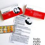 invitacion boda original caja medicamento