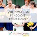 Que significan los colores en las bodas