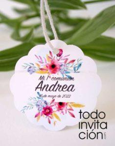 etiquetas personalizdas de cartulinay y kraft para boda comunion