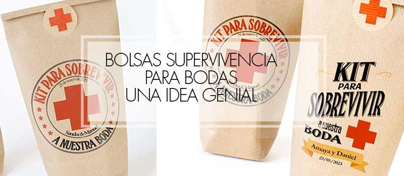 bolsas kit supervivencia para bodas