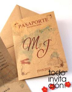 invitacion viaje pasaportee