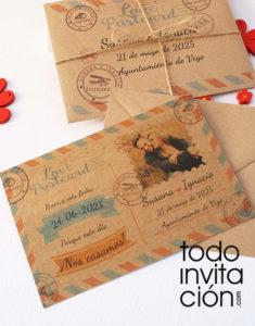 invitación de boda carta