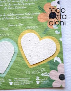 invitaciones plantables original y distinta