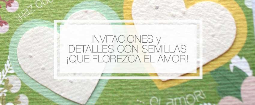 invitaciones de boda semillas plantables