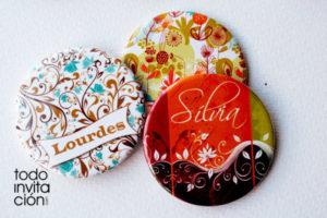 espejos bolsillo personalizados con nombres comunion
