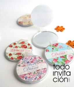 espejos personalizados flores comunion