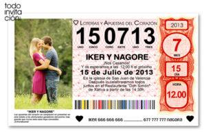invitacion diferente y original loteria