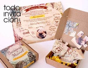 invitacion de boda original puzzle