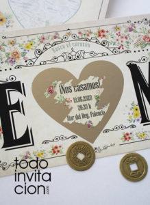 invitacion de boda rasca distitna y original