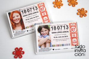 iman loteria personalizado para comunion
