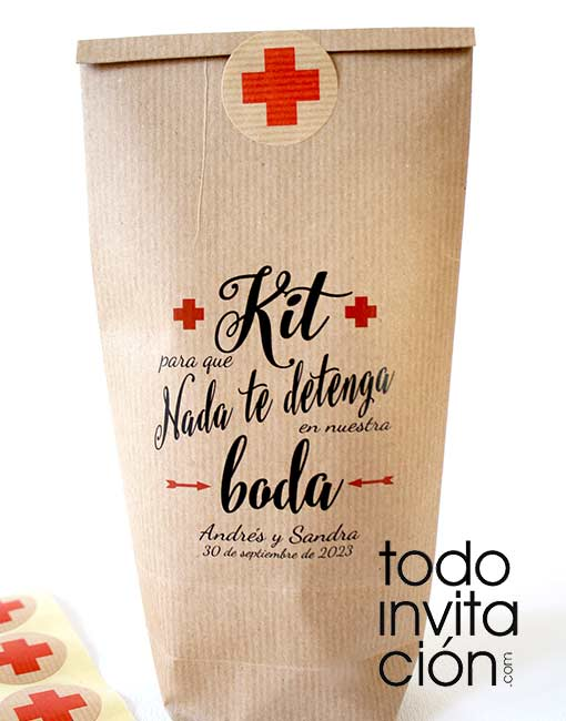 bolsas kit supervivencia boda
