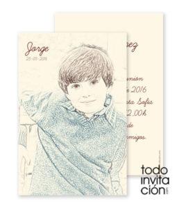 invitacion comunion original lapiz