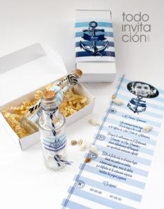 invitacion comunion original mensaje botella