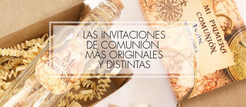 invitaciones comunion originales