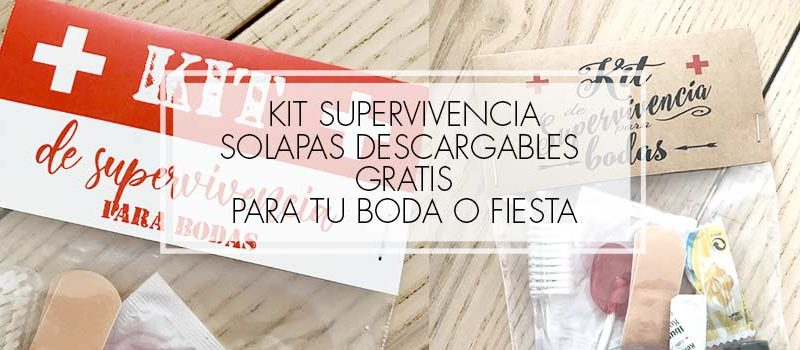 kit supervivencia bodas gratis descargable