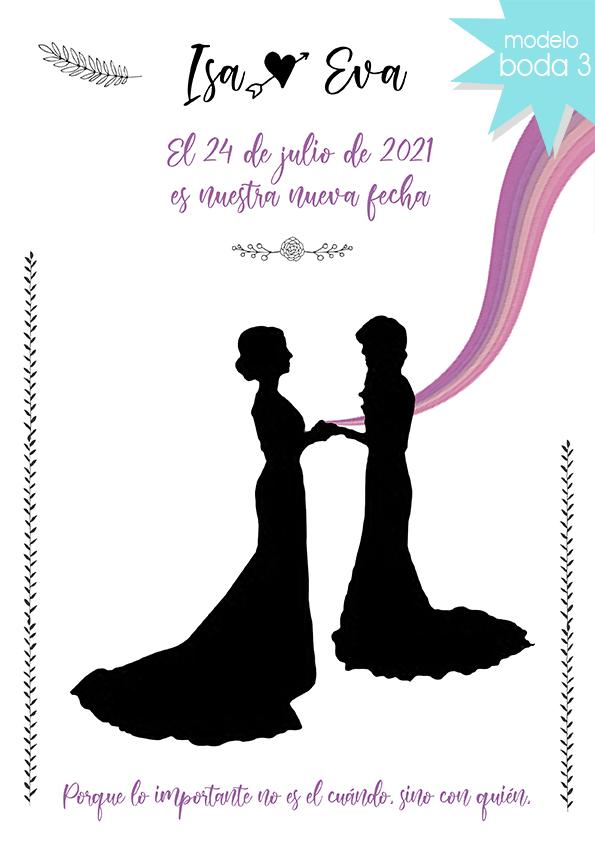 tarjeta digital cambio fecha boda todoinvitacion