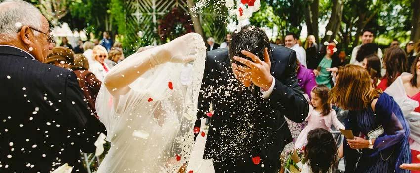 el arroz en la boda etiquetas