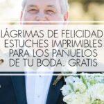 estuche pañuelos lagriasm felicidad de boda imprmible gratis