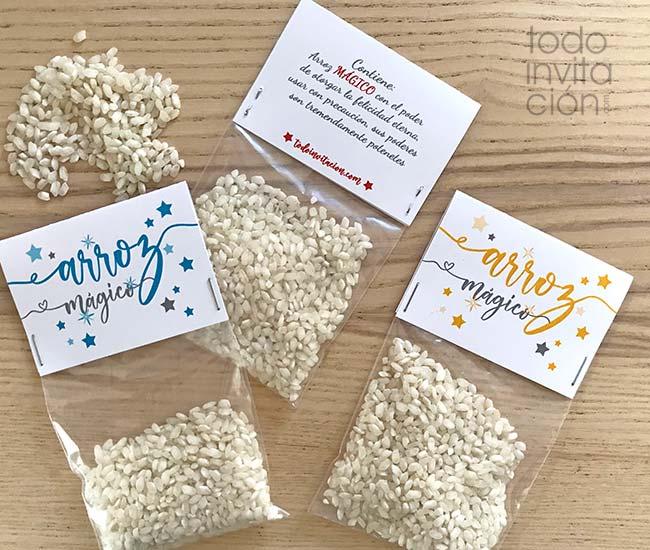 etiquetas gratis para bolsas de arroz de boda
