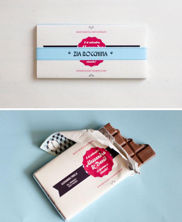 invitacion tableta chocolate