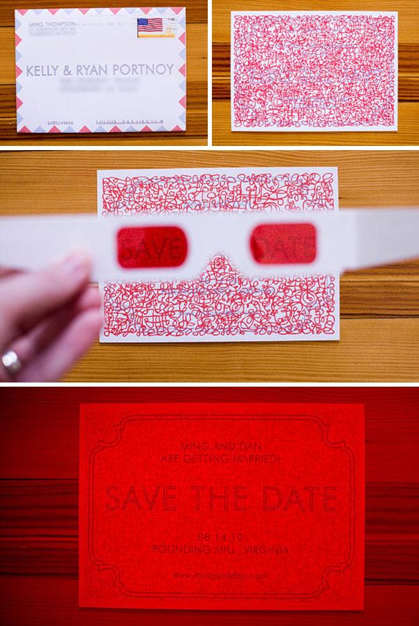 invitacion de boda 3 D
