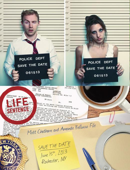 invitacion de boda divertida ficha policial
