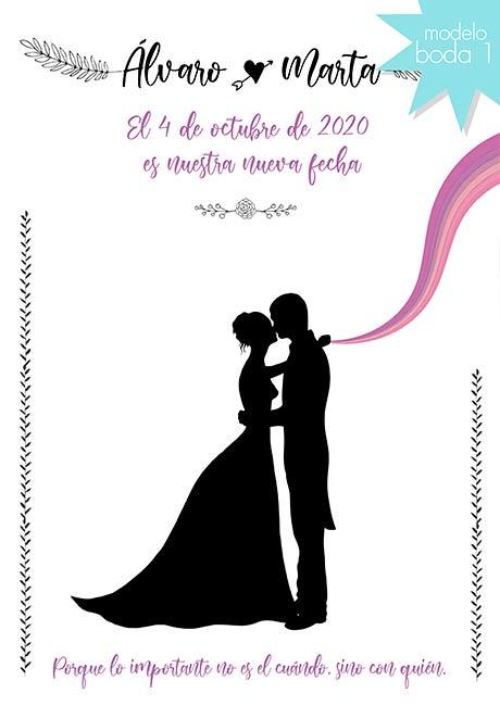 tarjeta digital cambio de fecha boda comunion bautizo gratis