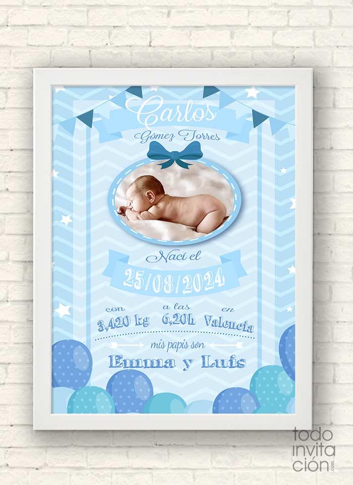 Cuadros persoanlziados decorativos para bebés