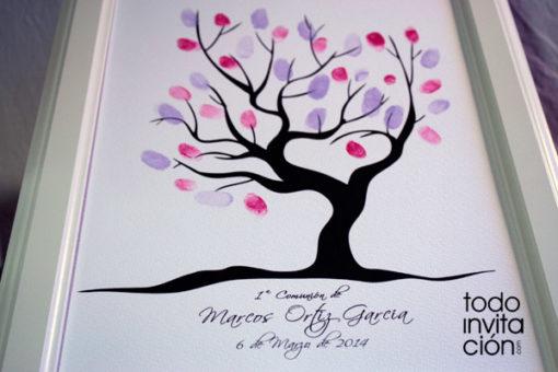 cuadro árbol de huellas comunión