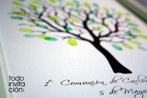 cuadro arbol de huellas comunion
