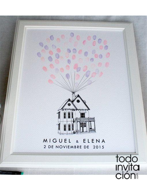 cuadro de huellas boda casa