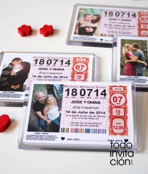iman detalle original loteria boda