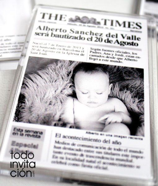 iman portada de periódico para bautizos