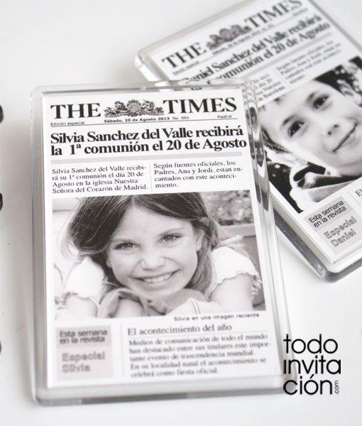 iman portada de periodico para comunion